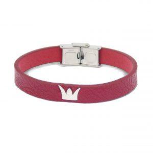 pulsera-de-cuero-roja-corona